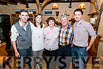 Eileen O'Connor from Kilgobnet celebrated her 60th birthday with Patrick , Jennifer, Paudlie and Lawrence O'Connor in the Beaufort Bar and Restaurant last Saturday night.