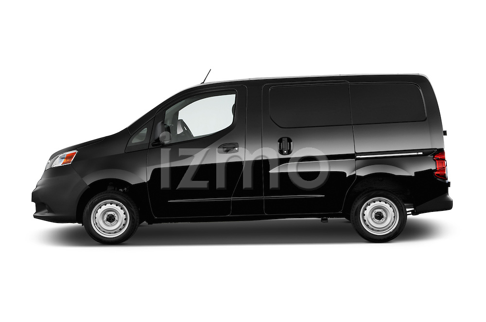 Car Driver side profile view of a2014 Nissan NV 200 Cargo S 5 Door Van Side View