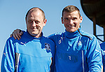 Sons of Struth fans group leader Craig Houston with Rangers captain Lee McCulloch