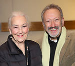 "Rosemary Harris and Allan Corduner attends the ""My Fair Lady"" Re-Opening Celebration at the Vivian Beaumont Theatre on January 27, 2019 in New York City."