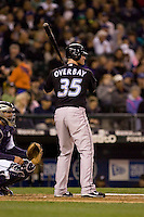 May 19, 2010: Toronto Blue Jays' Lyle Overbay at-bat during a game against the Seattle Mariners at Safeco Field in Seattle, Washington.