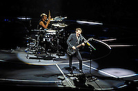 LONDON, ENGLAND - APRIL 3: Dominic Howard and Matt Bellamy of 'Muse' performing at the O2 Arena on April 3, 2016 in London, England.<br /> * Press use only. No merchandising *<br /> CAP/MAR<br /> &copy;MAR/Capital Pictures /MediaPunch ***NORTH AND SOUTH AMERICAS ONLY***