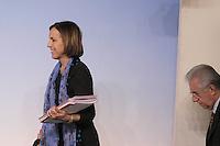 roma, 20 Marzo 2012.Palazzo chigi.Conferenza stampa dopo l'incontro tra il governo e le parti sociali sulla riforma del Mercato del lavoro.Il Ministro del lavoro Elsa Fornero e  Mario Monti