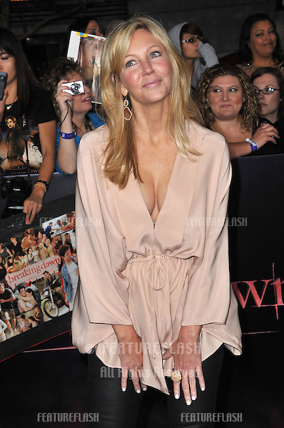 """Heather Locklear at the world premiere of """"The Twilight Saga: Breaking Dawn - Part 1"""" at the Nokia Theatre, L.A. Live in downtown Los Angeles..November 14, 2011  Los Angeles, CA.Picture: Paul Smith / Featureflash"""