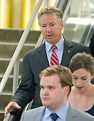 "United States Senator Rand Paul (Republican of Kentucky) on the escalator to go into the Senate Subway after the vote on the repeal of the Affordable Care Act (ACA) also known as ""Obamacare"" in the US Capitol in Washington, DC on Wednesday, July 26, 2017.  The Senate voted 55-45 to reject legislation undoing major portions of President Barack Obama's signature healthcare law without a plan to replace it.<br /> Credit: Ron Sachs / CNP"
