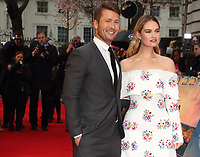 Glen Powell and Lily James at The Guernsey Literary And Potato Peel Pie Society World Premiere at the Curzon Mayfair, London, on Monday April 9th 2018<br /> CAP/ROS<br /> &copy;ROS/Capital Pictures
