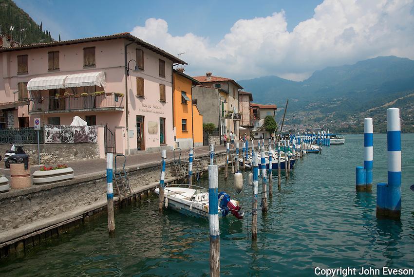 Peschiera Margalio on Monte Isola, Lake Iseo, Lombardy, Italy.