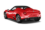 Car pictures of rear three quarter view of a 2019 Alfa Romeo 4C Spider 2 Door Convertible angular rear