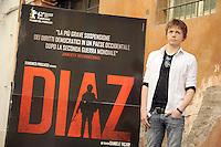 """Roma, 6 Aprile 2012.Photocall del film """"Diaz"""" .L'attore Gianmaria Martini"""