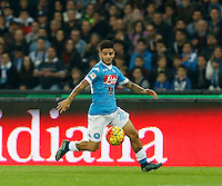 Lorenzo Insigne controls the ball during the  italian serie a soccer match,between SSC Napoli and Udinese      at  the San  Paolo   stadium in Naples  Italy , November 08, 2015