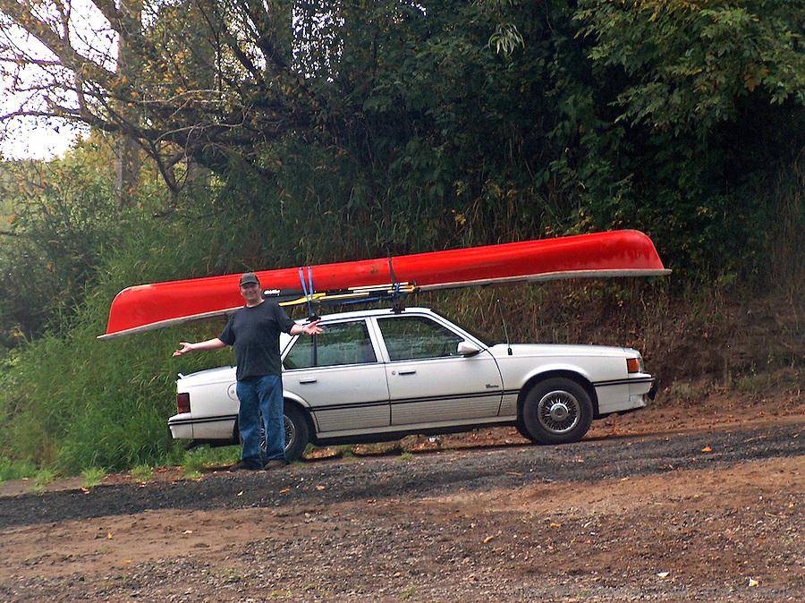 Dal at the boat ramp on the Chehalis River, Montesano, Washington, USA