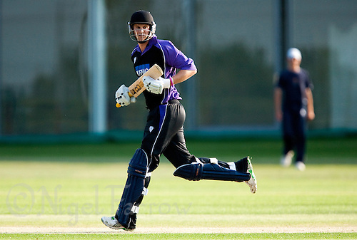 25 JUN 2009 - LOUGHBOROUGH,GBR - Liam Lewis - Loughborough UCCE (purple and black) v Cambridge UCCE (blue) - UCCE Twenty 20 (PHOTO (C) NIGEL FARROW)