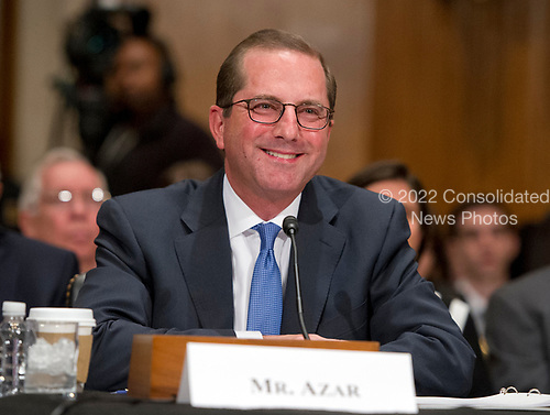 Alex M. Azar II testifies before the United States Senate Committee on Health, Education, Labor and Pensions on his nomination to be Secretary of Health and Human Services on Capitol Hill in Washington, DC on Wednesday, November 29, 2017.<br /> Credit: Ron Sachs / CNP