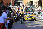 Paul Martens (GER) Team Jumbo-Visma rounds the hairpin to commence the San Luca climb during Stage 1 of the 2019 Giro d'Italia, an individual time trial running 8km from Bologna to the Sanctuary of San Luca, Bologna, Italy. 11th May 2019.<br /> Picture: Eoin Clarke | Cyclefile<br /> <br /> All photos usage must carry mandatory copyright credit (© Cyclefile | Eoin Clarke)