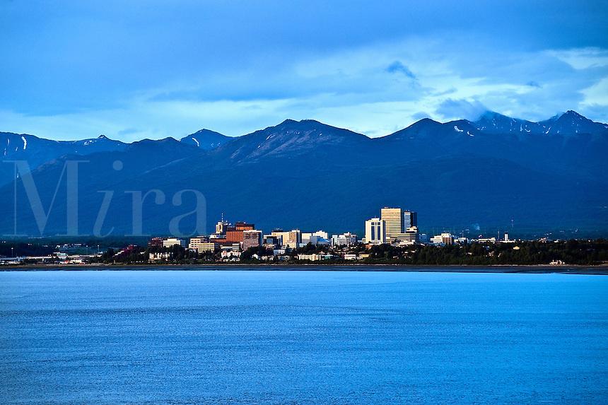 City skyline, Anchorage, AK, Alaska, USA