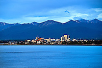 City skyline, Anchorage, AK, Alaska, USA