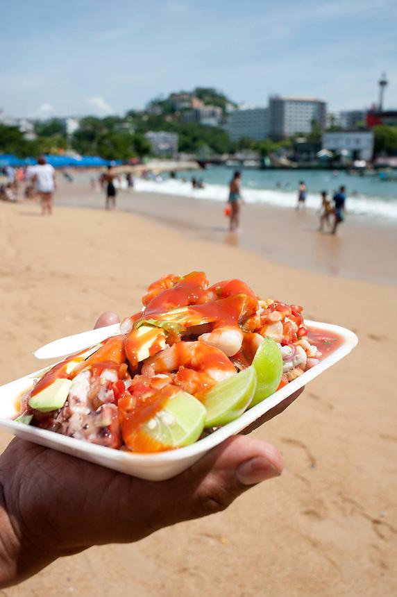 Vuelva a la vida, street sea food, Caletilla, Acapulco, Guerrero, Mexico
