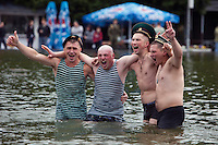 Moscow, Russia, 28/05/2010..Russian Border Troops celebrate their annual regimental holiday drinking and partying in Gorky Park in central Moscow.