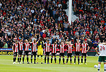 A minutes silence for the victims of the Barcelona terrorist attack during the Championship League match at Bramall Lane Stadium, Sheffield. Picture date 19th August 2017. Picture credit should read: Simon Bellis/Sportimage