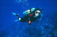 DIVERS<br /> Close up of Diver With Gear.