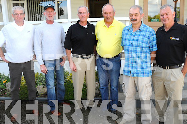 FAMILY AFFAIR: Taking part in the 35th annual brothers Golf Tournament in Kenmare on Saturday last were brothers Pat, Jerry, Jim McInerney (Durd) with brothers Steve, PJ and Eoghan O'Sullivan (Kansas and Tousist).