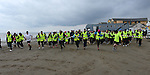 The start of the St Mary's Drumcar 5K run on Bettystown beach. Photo:Colin Bell/pressphotos.ie