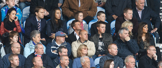 Sasa Papac and Mrs watching from the stand