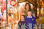 Caroline, Ronan and Aoife Walsh Christmas Shopping in Castleisland on Monday