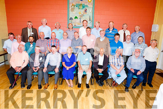 Class reunion of Tralee CBS 1968 class in St Johns Pastoral centre on Friday night.<br /> Seated l-r, Tom Baker, Sean Hanafin, Robert Flaherty, Ann O'Callaghan, Billy Ryle, Gerard Griffin, Willie O'Connor and Kieran Dowling.<br /> Middle l-r, Pat Harty, Noel McCarthy, Paudie Tagney, Joe Dooney, John Rice, Seamus Whelan, Paud Lawlor, Conor Fitzgerald, Gerard O'Regan, Tom O'Sullivan, John O'Shea, Padraig O'Morain and John Conway.<br /> Back l-r, Martin Sayers, John Shanahan, Maurice O'Flaherty, Mike McSwiney, Peter Bailey, Connell Fanning, Michael Hussey, Dermot Foley and Fionnan O'Connell.