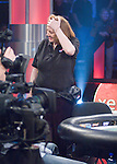 Kathy Liebert can't believe she was eliminated.  She made the flush, but EG Harvin had the nut flush,