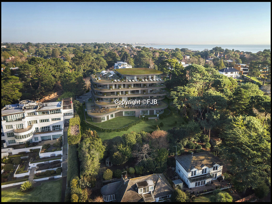 BNPS.co.uk (01202 558833)<br /> Pic: FJB/BNPS<br /> <br /> Harbour Height Hotel is to be transformed into a smaller hotel with apartments.<br /> <br /> Plans to transform the millionaire's resort of Sandbanks into 'Britain's Miami Beach' with two new superhotel's and apartments as part of a £250m development have been unveiled. <br /> <br /> A pair of century-old hotels on the exclusive Dorset peninsula will be bulldozed to make way for an extravagant five star hotel on the beach and a smaller hotel with apartments on the cliffs above.<br /> <br /> The luxurious 175 room establishment will replace the existing Sandbanks Hotel, a former Victorian seaside villa built in the 1880s that is now 'coming to the end of its economic life cycle.'<br /> <br /> In keeping with the Miami Beach look, the super hotel will be Art-Deco in style, have curved floors and painted white with palm trees in the grounds.<br /> <br /> The existing historic Harbour Heights Hotel will also be demolished to make way for the second part of the radical development.