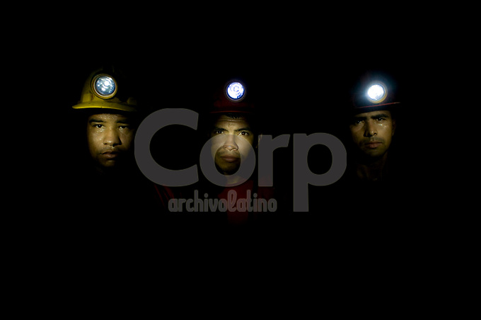 Mineros de la cooperativa Minera Sur, Segovia, Colombia.