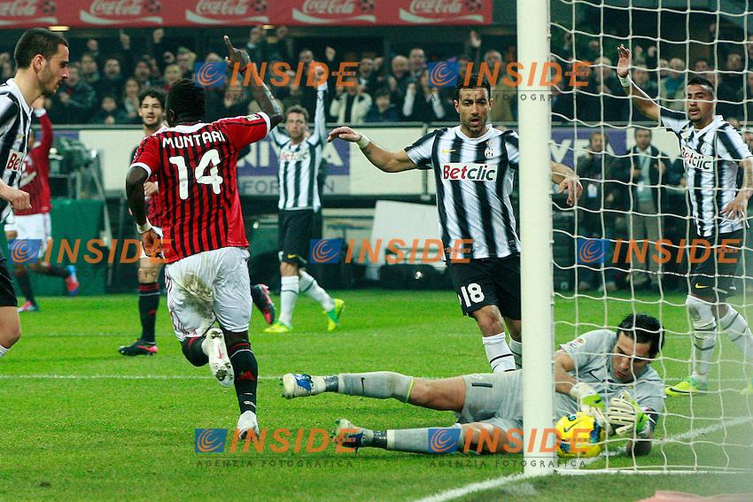 "Gianluigi Buffon Juventus.Milano 25/02/2012 Stadio ""S.Siro"".Football / Calcio Serie A 2011/2012.Milan vs Juventus.Foto Insidefoto Paolo Nucci"