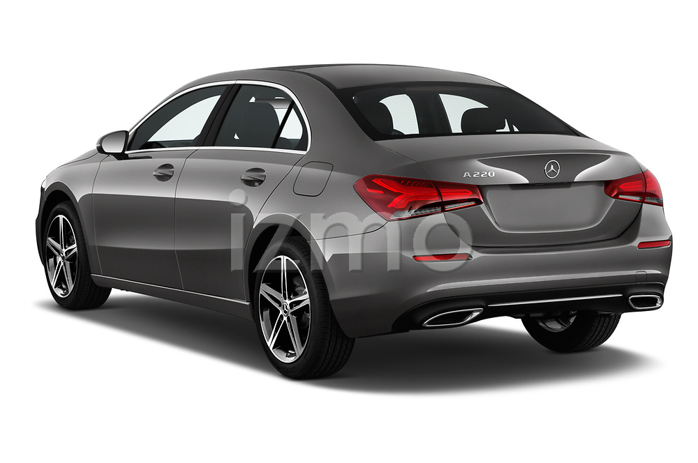 Car pictures of rear three quarter view of 2019 Mercedes Benz A-Class-Sedan A-220 4 Door Sedan Angular Rear