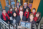 FUNDRAISING: Launching the new St Joseph's Ballybunion school choir in Tralee on Friday were front, l-r: Bernadette Farrell Kindelan (Parents Council), Cormac O'Daly (Celtic Kings Tenors), Linda Lynch (Teacher. Back l-r: Tessa Harty, Nicola Kissane, Michelle Rowan, John O'Donovan (Principal), Breda Houlihan, Ger O'Sullivan (Producer), Heather Moran, Ma?ire Hitchen, Rita O'Carroll.