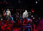 Will Swenson, Karen Olivo, Rebecca Naomi Jones & John Ellison Conlee during the Opening Night Performance Curtain Call for the Manhattan Theatre Club's 'Murder Ballad' at MTC in New York City on 11/15/2012