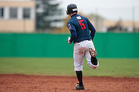 17 October 2010: Kenji Hagiwara of Rouen runs the bases after blasting a solo home run during Rouen 10-5 win over Savigny, during game 2 of the French championship finals, in Savigny sur Orge, France.