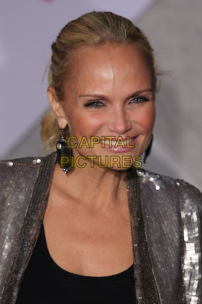 """KRISTIN CHENOWETH .""""When In Rome"""" Los Angeles Premiere - Arrivals held at The El Capitan Theater, Hollywood, CA, USA, .27th January 2010..portrait headshot hair up silver sequined sequin earrings dangly  smiling tanned sun tan black .CAP/ADM/CH.©Charles Harris/AdMedia/Capital Pictures"""