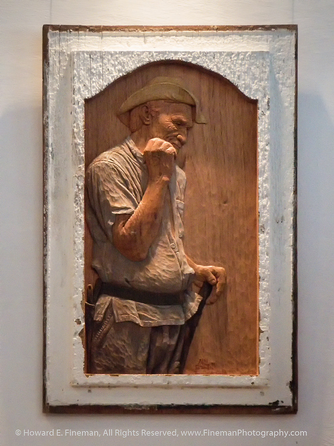 Lazaro Niebla's Carved wood portraits of everyday Cubans - carved from old Vwindow shutters