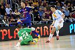 League LNFS 2017/2018 - Game 18.<br /> FC Barcelona Lassa vs Catgas Energia: 2-2.<br /> Cristian, Mario Rivillos &amp; Alvarez.