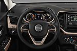Car pictures of steering wheel view of a 2018 Jeep Cherokee Latitude 5 Door SUV