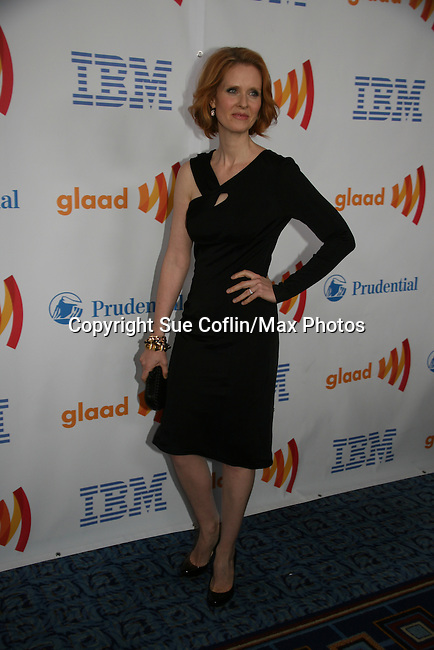 Cynthia Nixon - Sex & The City presented the Vito Russo Award at the 21st Annual GLAAD Media Awards on March 13, 2010 at the New York Marriott Marquis, New York City, NY. (Photo by Sue Coflin/Max Photos)