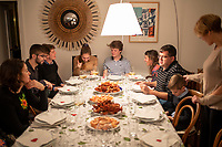 New Years Eve dinner with the Angulos, Las Arenas, Basque Country, Spain