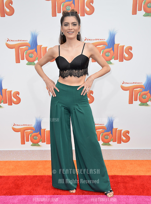 LOS ANGELES, CA. October 23, 2016: Actress Blanca Blanco at the Los Angeles premiere of &quot;Trolls&quot; at the Regency Village Theatre, Westwood.<br /> Picture: Paul Smith/Featureflash/SilverHub 0208 004 5359/ 07711 972644 Editors@silverhubmedia.com