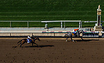 ARCADIA, CA - JUNE 02: Unique Bella #6 with Mike Smith up defeats  La Force #3 with Drayden Van Dyke up to win the Beholder Mile Stakes at Santa Anita Park on June 02, 2018 in Arcadia, California. (Photo by Alex Evers/Eclipse Sportswire/Getty Images)