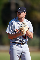 Detroit Tigers pitcher Tyler Alexander (46) gets ready to deliver a pitch during a Minor League Spring Training intrasquad game on March 24, 2018 at the TigerTown Complex in Lakeland, Florida.  (Mike Janes/Four Seam Images)
