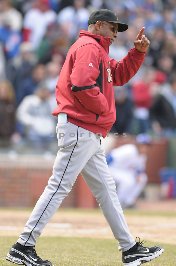 CECIL COOPER, of the Houston Astros, in action during the Astros game against the Chicago Cubs  in Chicago, IL  on April 4, 2008...Cubs win 4-3...CHRIS BERNACHHI / SPORTPICS..