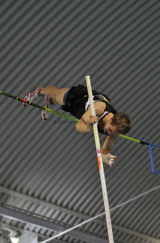 Photo: Tony Oudot/Richard Lane Photography. Aviva World Trials & UK Championships. 14/02/2010. .Mens Pole Vault, .Andrew Marsh.