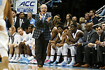 14 February 2016: UNC head coach Roy Williams. The University of North Carolina Tar Heels hosted the University of Pittsburgh Panthers at the Dean E. Smith Center in Chapel Hill, North Carolina in a 2015-16 NCAA Division I Men's Basketball game. UNC won the game 85-64.