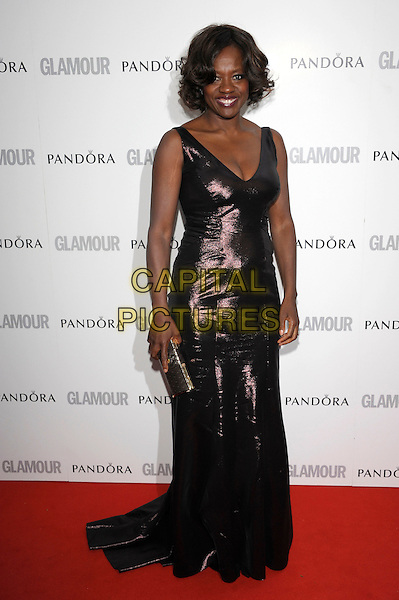 Viola Davis.Women Of The Year 2012 - Glamour Awards, Berkeley Square, London, England..29th May 2012.full length purple dress clutch bag.CAP/PL.©Phil Loftus/Capital Pictures.
